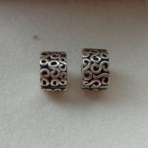 Authentic Pandora S Clip Charms SET OF 2 lot